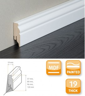 Berlin Skirting Board MDF White Painted 2.1
