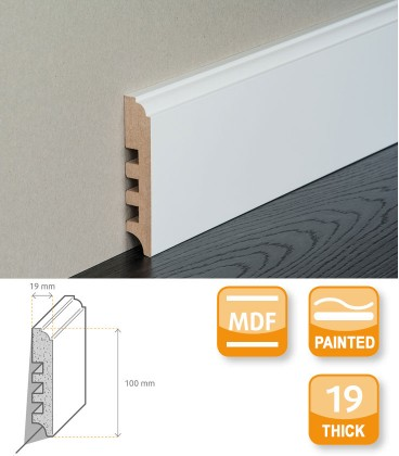 Terra White Painted Skirting Board 1.1