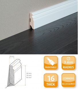 Hamburg Skirting Board Softwood Primed 1.1