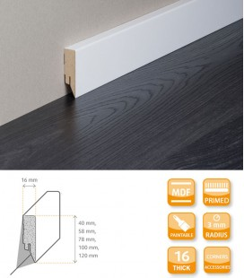Topline Skirting Board - MDF White Primed