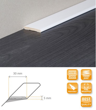 Carpet Trim Solid Timber Wrapped 1.1