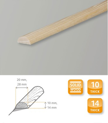 Half-Round Dowel Rod Moulding Softwood Pine 1.1