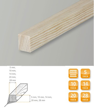 Square Short Softwood Pine 1.1