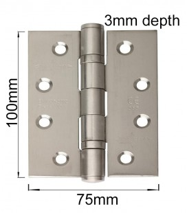 Tehnic Ball bearing fire rated stainless steel hinge 3.1