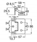 Hinge for glass doors suitable for British frame installation 2.1