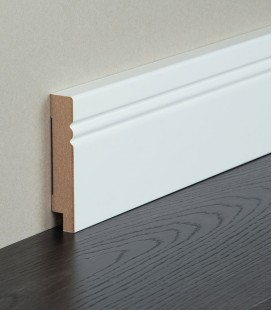 Avantgarde MDF White Painted Skirting Board 1.1