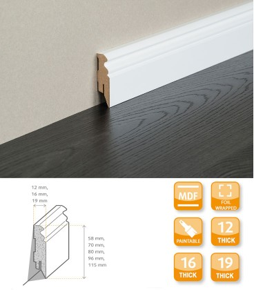 Hamburg Skirting Board - MDF Primed Foil