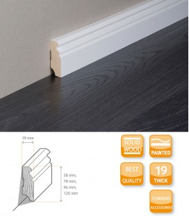 Berlin Skirting Board - Softwood Painted
