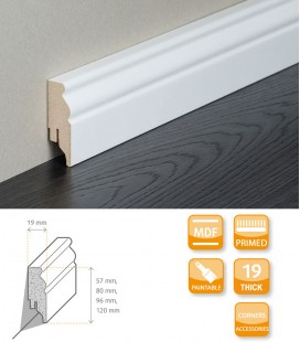 Berlin Skirting Board MDF White Primed 1.1