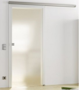 Frosted Glass Sliding Door Set