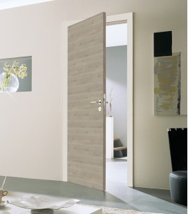 Silver Fire Doors - Grey Finish - Horizontal Grain