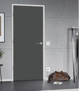 Dark Grey Matte Fireproof Doors - Internal Wooden Doors