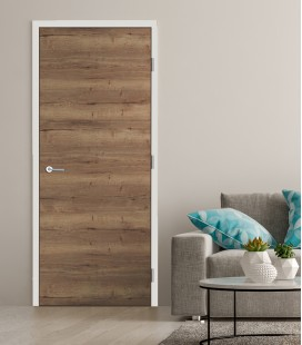 Oak Tobacco Cross Fire Doors - Horizontal Grain