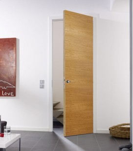 Oak Real Wood Veneer Fire Rated Door