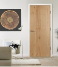 Knotty Oak Real Wood Veneer Fire Rated Door