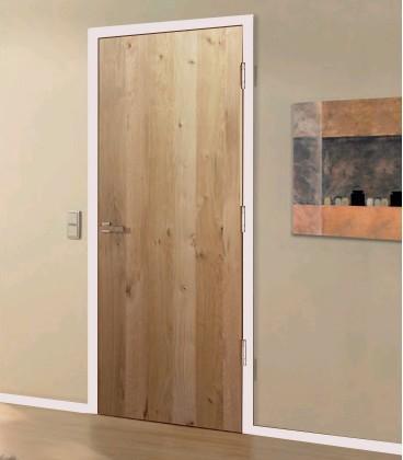 Natural Rustic Real Wood Veneer Fire Rated Door