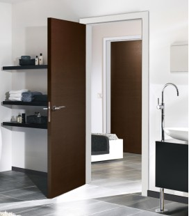 Dark Oak Chocolate Real Wood Veneer Fire Rated Door