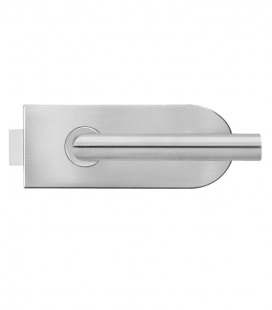 Round form latch for glass door