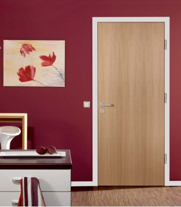 Oak Matte Real Wood Veneer Fire Rated Door