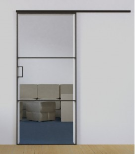 Sliding Door with 2 Metal Profiles