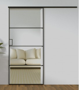 Metal Framed Single Sliding Doors