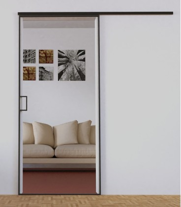 Sliding Door with Metal Profiles on the Edge