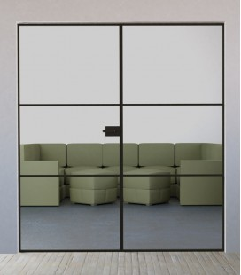 Double Doors with 2 Metal Profiles