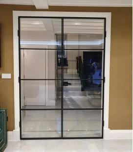 Double Doors with 3 Metal Profiles