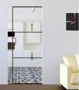 Pocket Door with 2 Metal Profiles