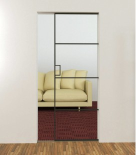 Metal Framed Single Pocket Doors